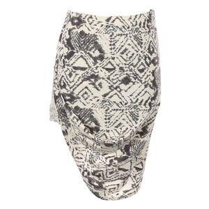new Pam & Gela ✲ Asymmetric Drape Print Skirt ✲